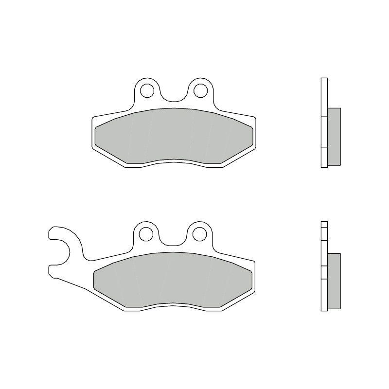plaquettes de frein brembo 07056cc carbone c ramique avant arri re pi ces freinage sur la. Black Bedroom Furniture Sets. Home Design Ideas