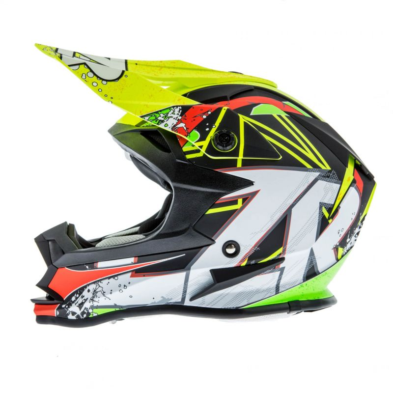 Casque cross Lazer OR1 Aerial carbone/jaune/rouge - 1