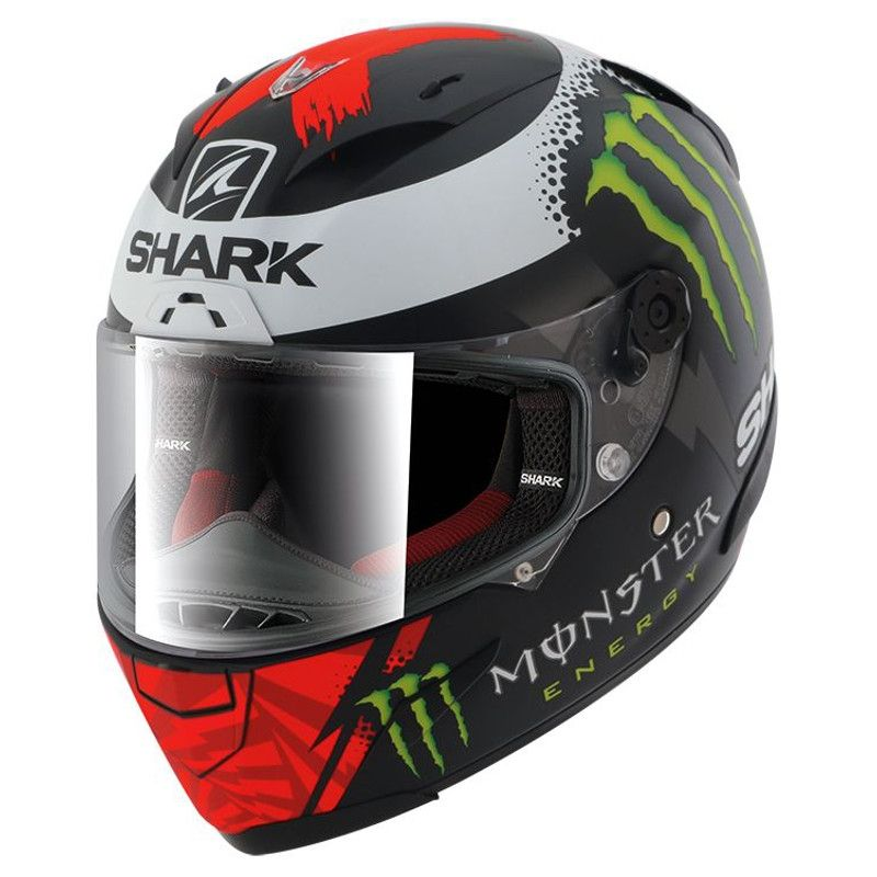 Casque intégral Shark RACE-R LORENZO MONSTER MAT noir/rouge/blanc