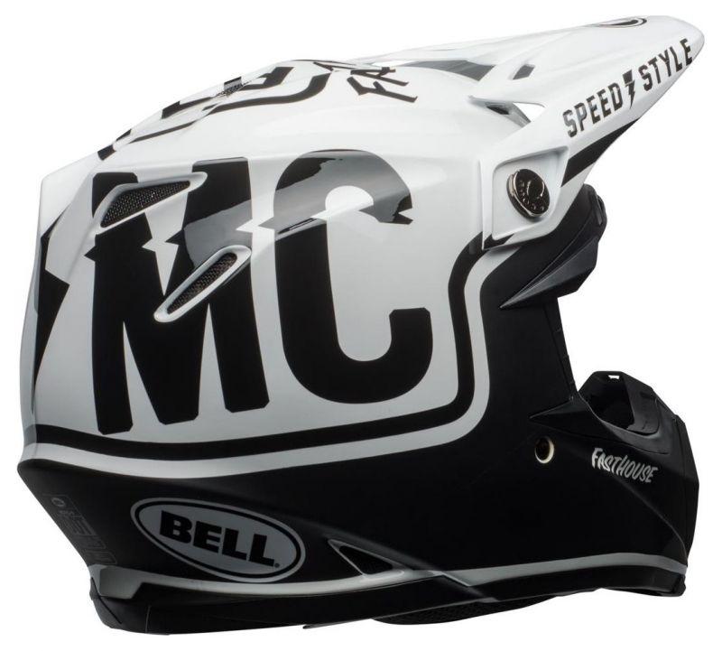 Casque cross Bell Moto 9 Mips Fasthouse Gloss noir mat/blanc - 3