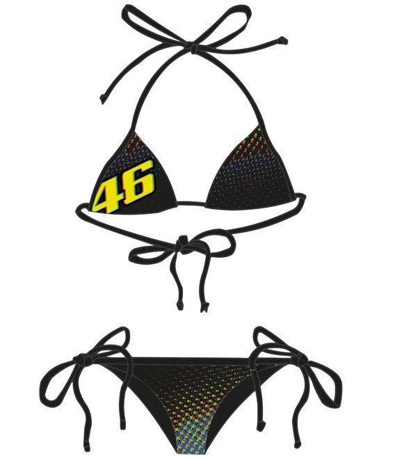 bikini vr46 valentino rossi noir 2016 accessoires. Black Bedroom Furniture Sets. Home Design Ideas