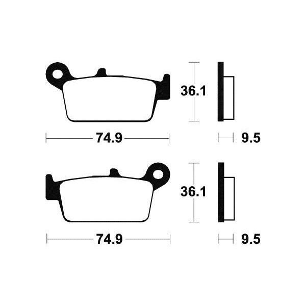 Plaquettes de frein Tecnium MA104 organique