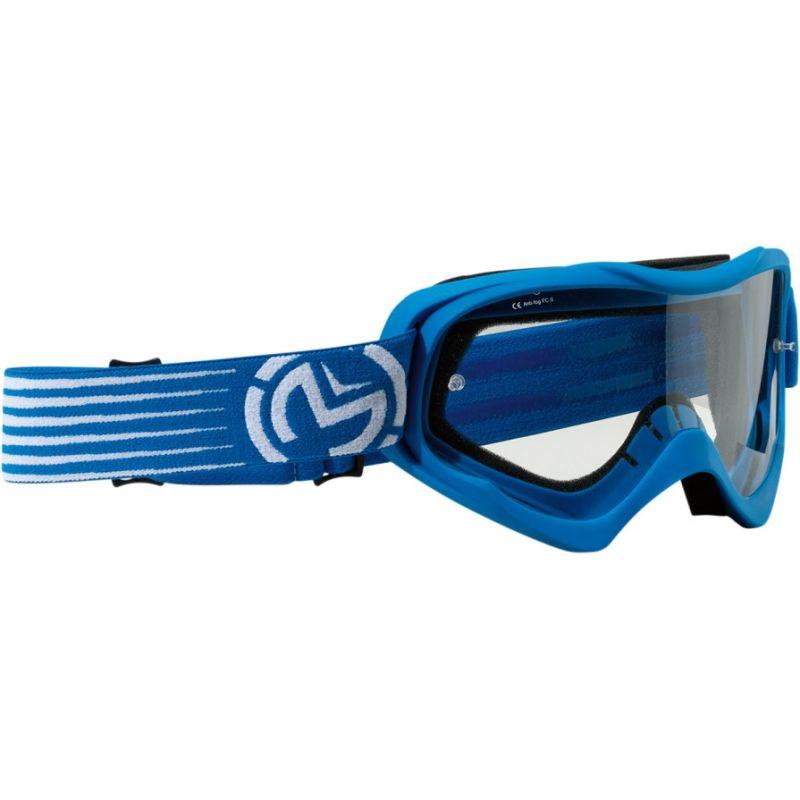 Masque cross enfant Moose Racing QUALIFIER SLASH bleu/blanc