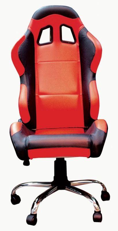 fauteuil si ge baquet paddock rouge noir accessoires stand sur la b canerie. Black Bedroom Furniture Sets. Home Design Ideas