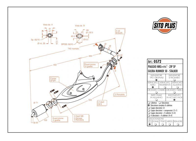 Pot d'échappement Sitoplus pour Piaggio NRG MC2 97-98 - 1