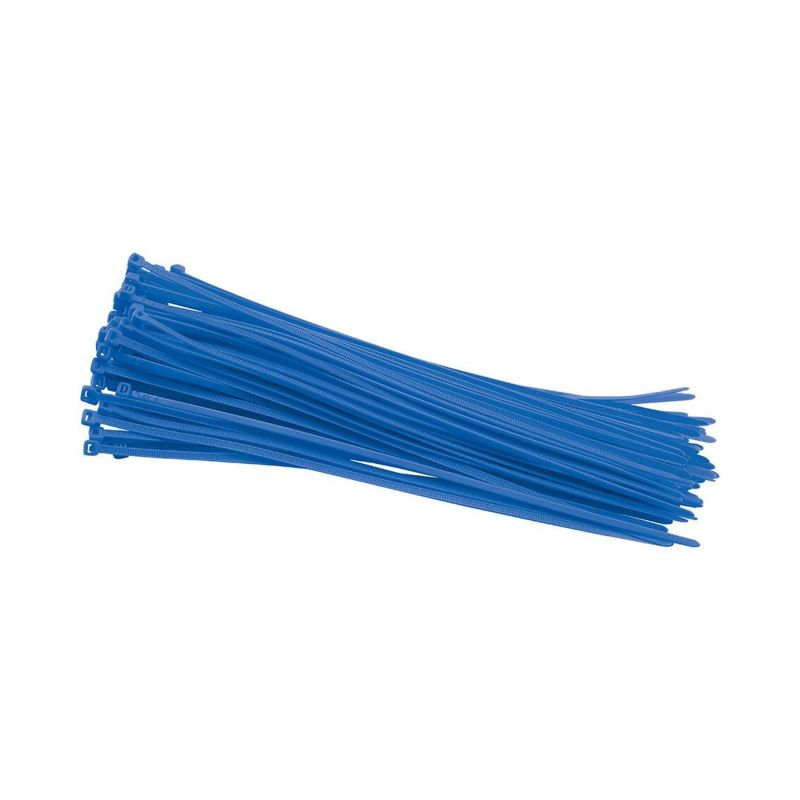 Colliers rilsan nylon bleu 3,6x250 mm