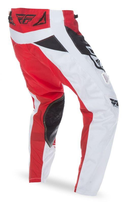 Pantalon cross Fly Racing Kinetic rouge/blanc - 1