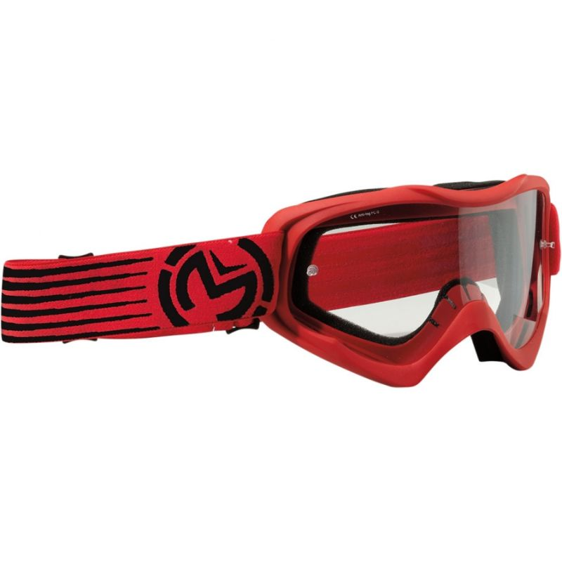 Masque cross enfant Moose Racing QUALIFIER SLASH rouge/noir