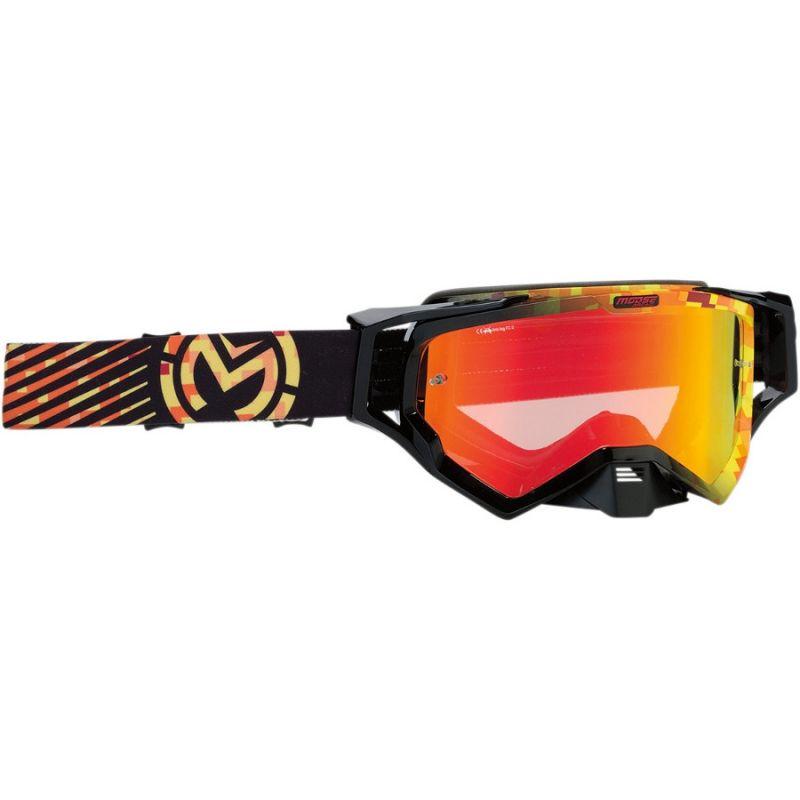 Masque cross Moose Racing XCR Camo jaune/orange
