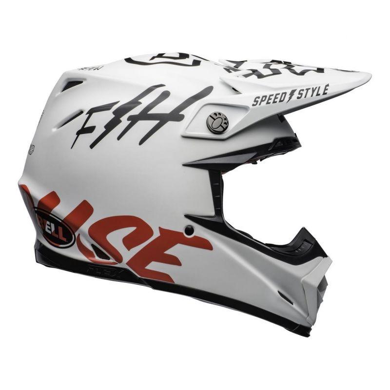 Casque cross Bell Moto 9 Flex Fasthouse WRWF mat/brillant blanc/rouge - 4