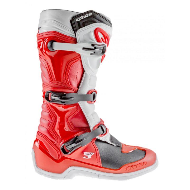 Bottes cross Alpinestars Tech 3 rouge/blanc - 1