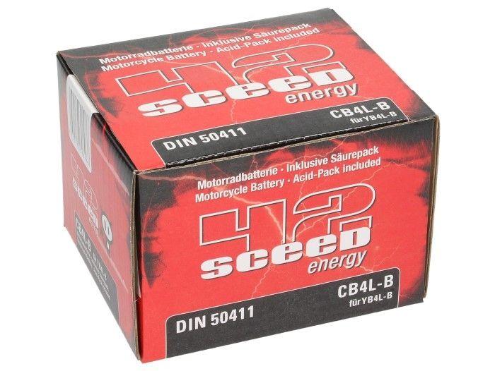 Batterie Sceed 42 YB4L-B 12V 4Ah avec pack acide - 3