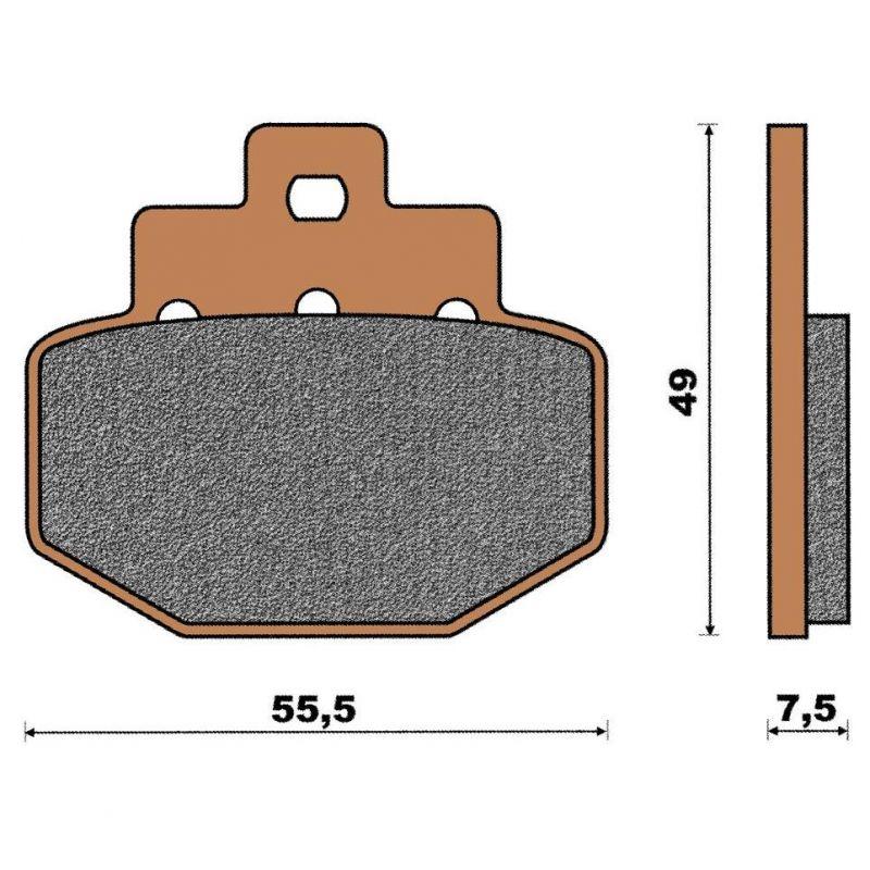plaquette de frein c ramique arri re runner vx pi ces freinage sur la b canerie. Black Bedroom Furniture Sets. Home Design Ideas