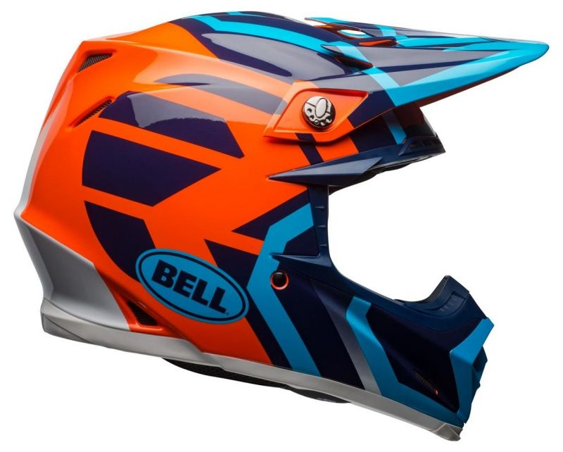 Casque cross Bell Moto 9 Mips Gloss bleu/orange district - 6