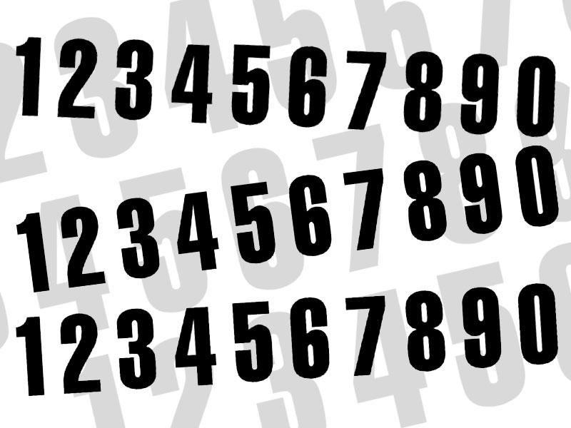 3 numéros de course Blackbird N° 0 noirs 16 x 7,5 cm