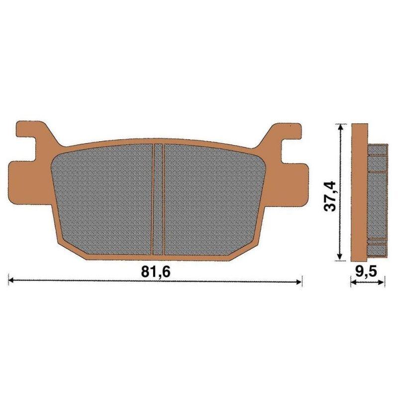 plaquette de frein c ramique arri re sh 125 300 pi ces freinage sur la b canerie. Black Bedroom Furniture Sets. Home Design Ideas