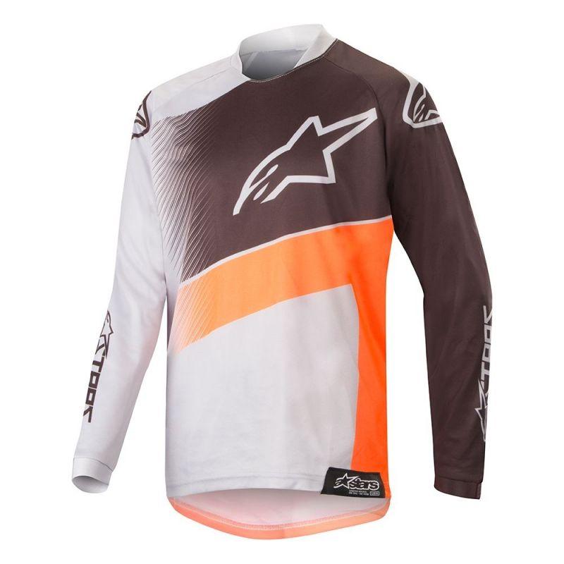 Maillot cross enfant Alpinestars Racer Supermatic gris clair/orange fluo/noir