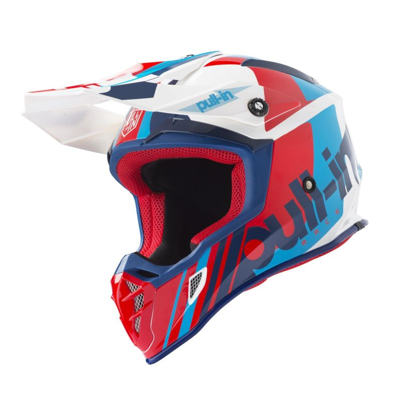 Casque cross Pull-in Race navy/rouge