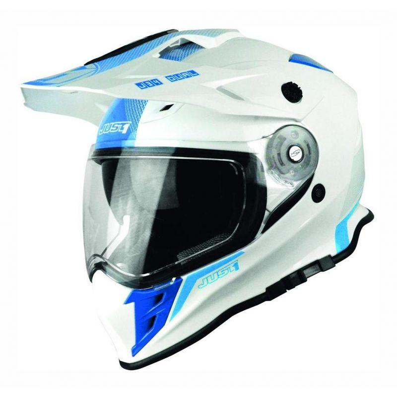Casque intégral Just1 J34 Adventure Shape blanc/bleu