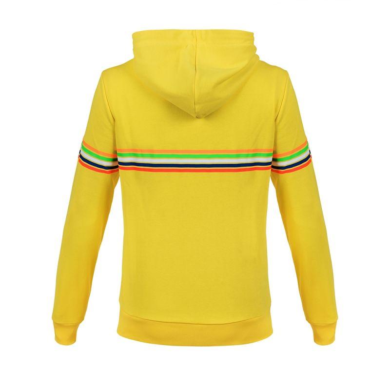 Sweat zip capuche VR46 Valentino Rossi Stripes jaune 2018 - 1