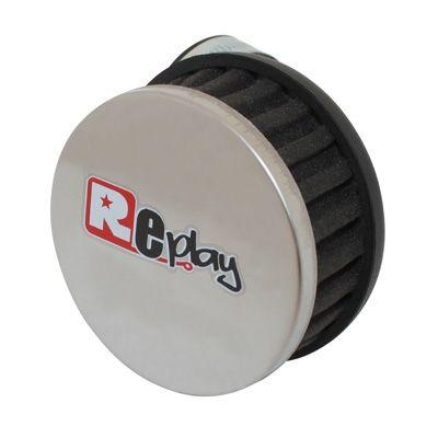 filtre air replay r box noir chrome coude d 35 28 pi ces carburation sur la b canerie. Black Bedroom Furniture Sets. Home Design Ideas