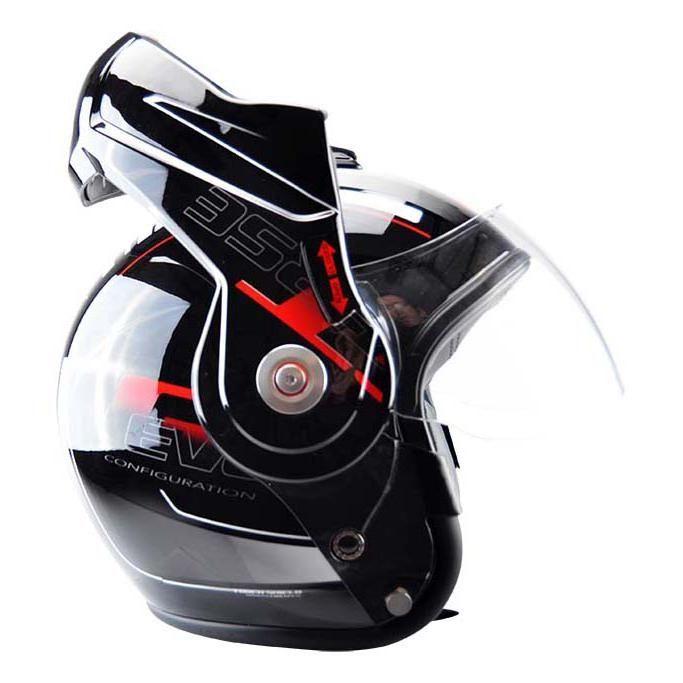 Casque modulable T-705 Reverse noir / rouge - 3