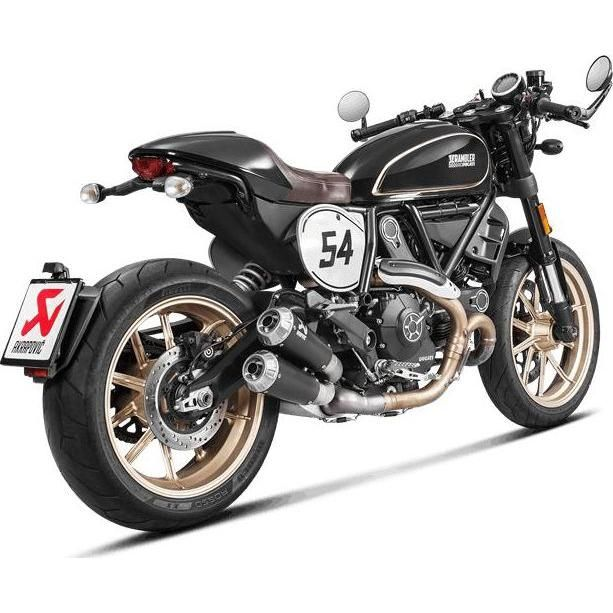 double silencieux akrapovic titane ducati scrambler cafe racer 17 18 pi ces echappement sur la. Black Bedroom Furniture Sets. Home Design Ideas