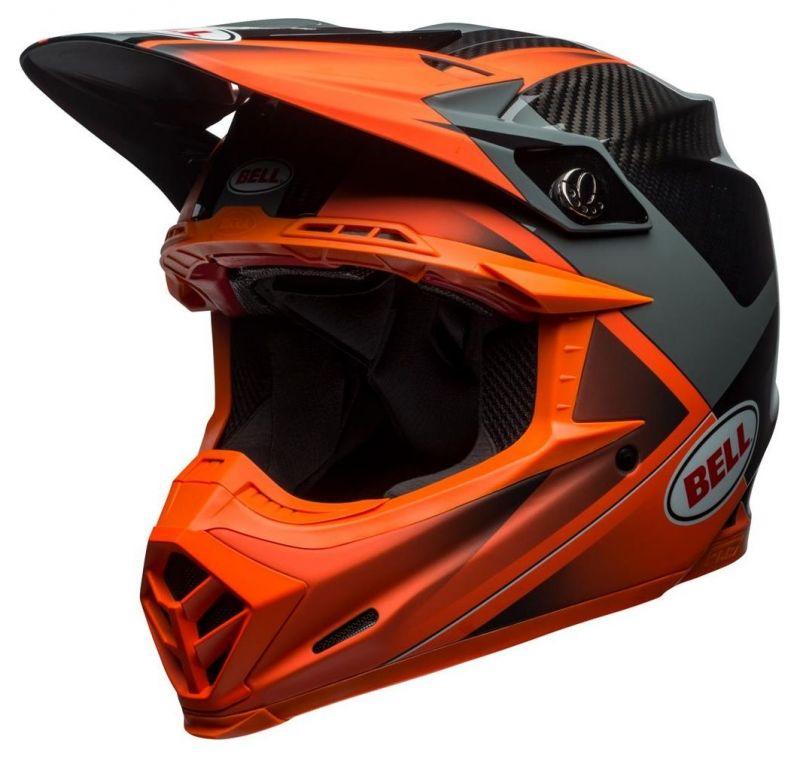 Casque cross Bell Moto 9 Flex Hound Gloss orange mat/charcoal