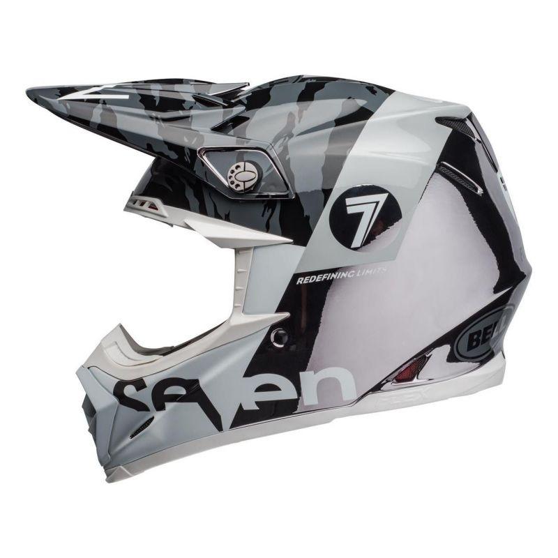 Casque cross Bell Moto-9 Flex Seven Zone noir/blanc/chrome - 3