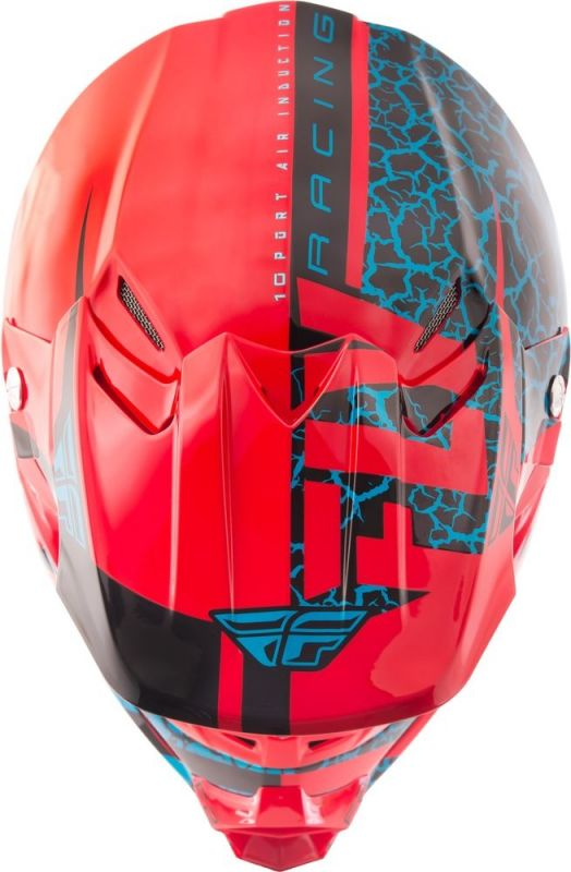 Casque cross Fly Racing F2 Carbon Fracture rouge/noir/bleu - 3