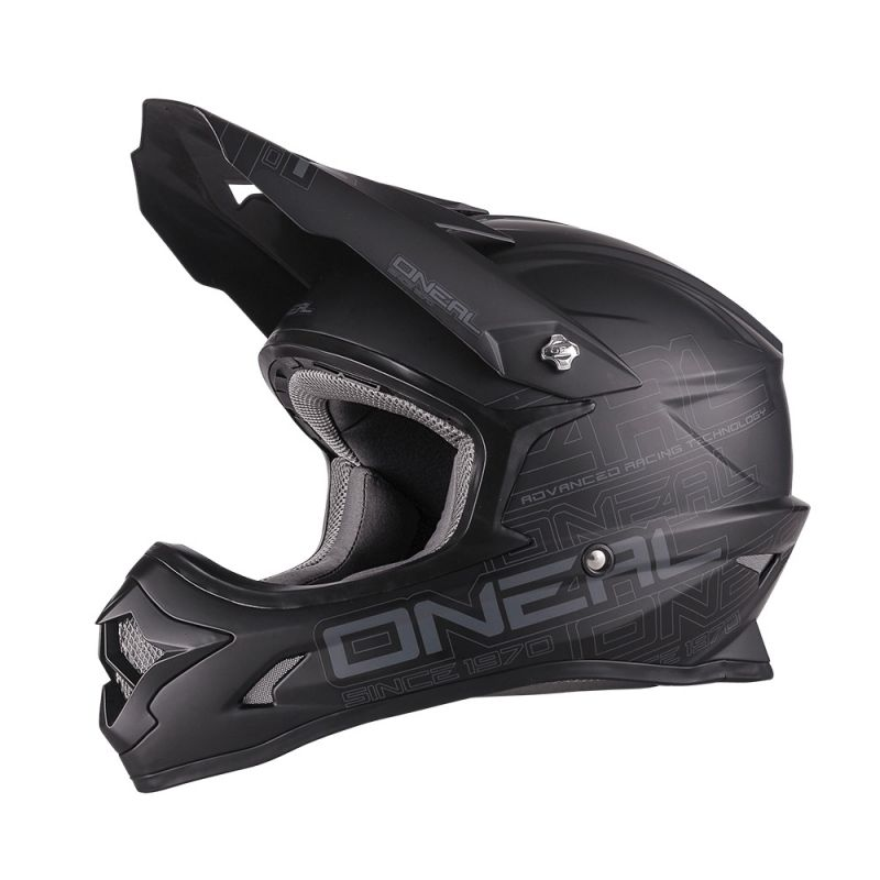 Casque cross O'Neal 3 Series Flat noir