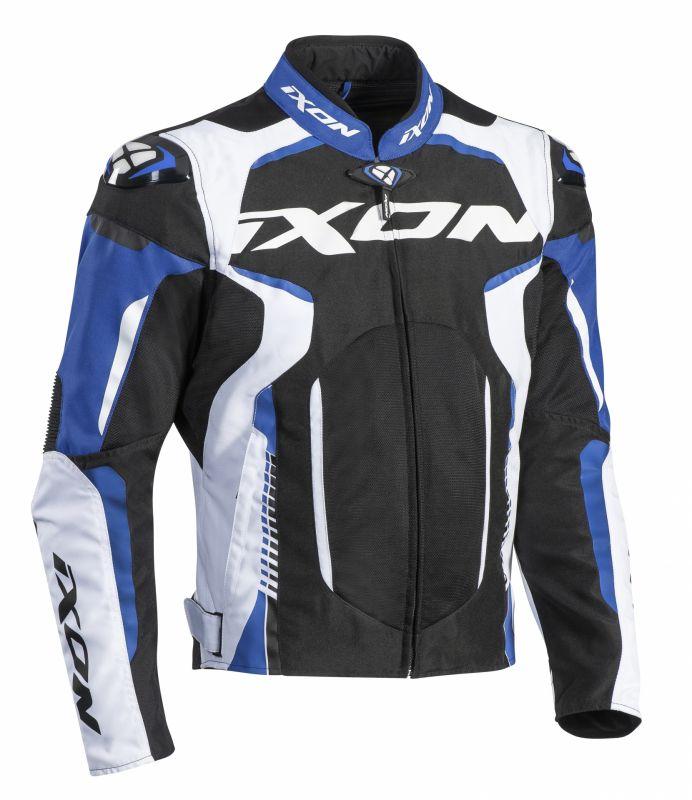 Blouson textile Ixon Gyre noir/blanc/bleu - 1