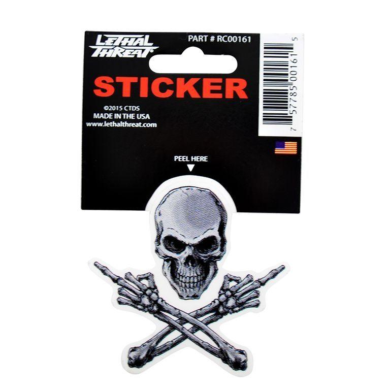 Autocollant Lethal Threat Squelette 7x11cm