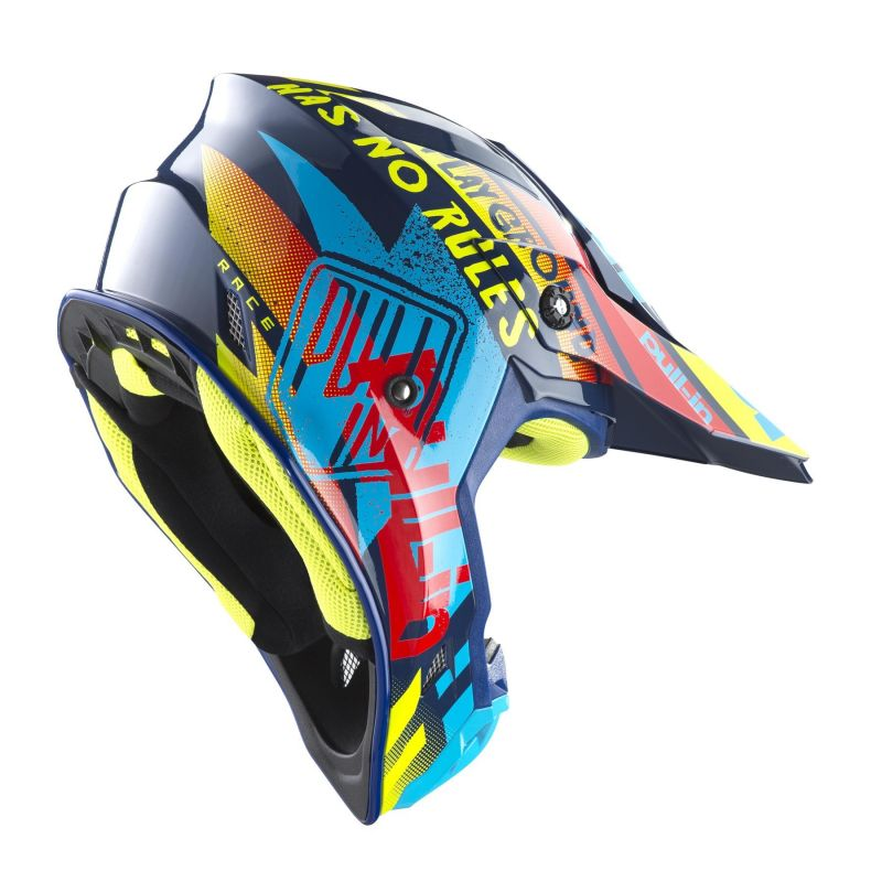 Casque cross Pull-in Trash cyan/rouge - 1