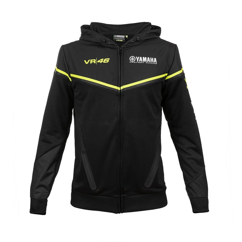 Sweat zip capuche VR46 Valentino Rossi Yamaha noir 2018