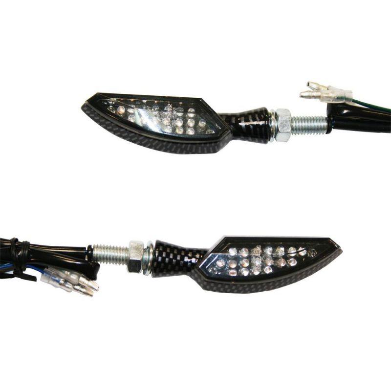 Clignotants Led Dagger carbone (paire)