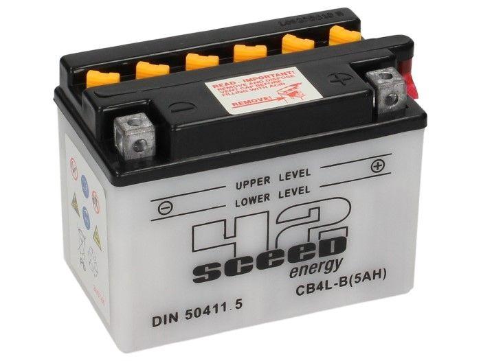 Batterie Sceed 42 YB4L-B 12V 5Ah avec pack acide