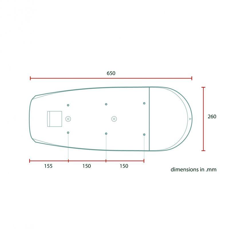 Selle scrambler C. Racer SCRF4 cuir synthétique marron - 4