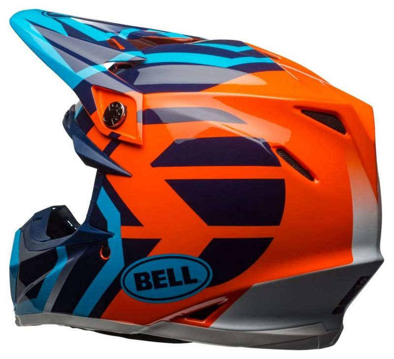 Casque cross Bell Moto 9 Mips Gloss bleu/orange district - 4