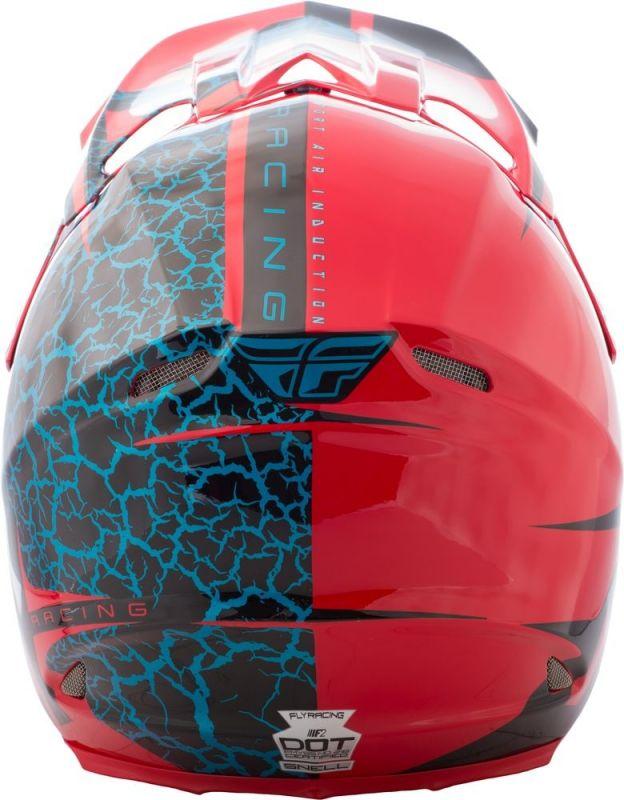 Casque cross Fly Racing F2 Carbon Fracture rouge/noir/bleu - 2