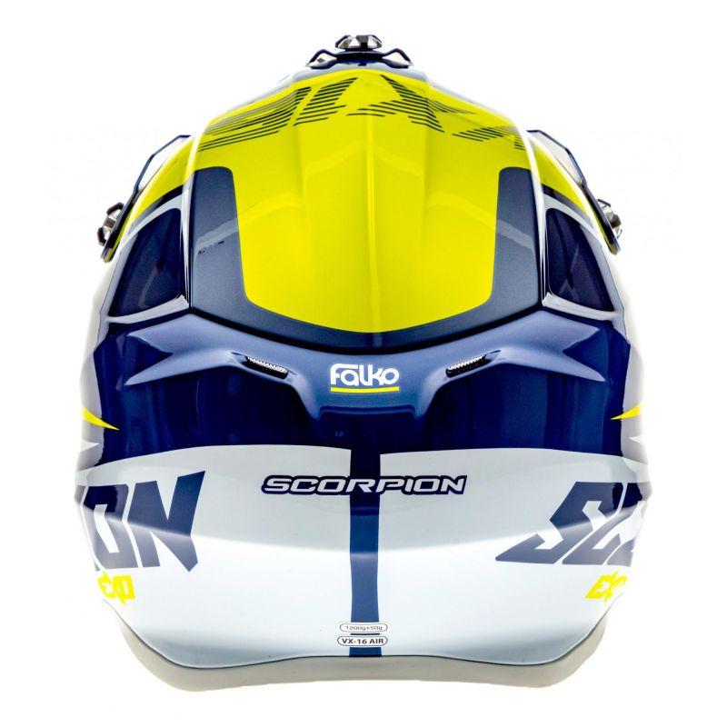 Casque cross Scorpion VX-16 Air Ernée bleu/jaune/blanc - 4