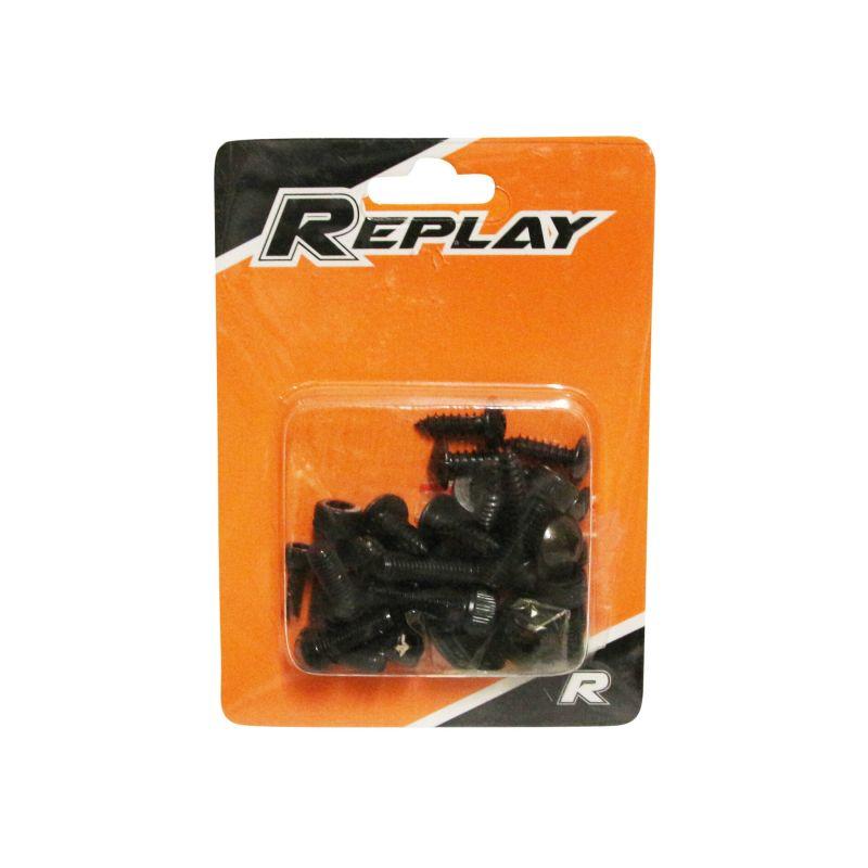 Kit vis de carrosserie Replay acier noir pour Ovetto/Neos - 1
