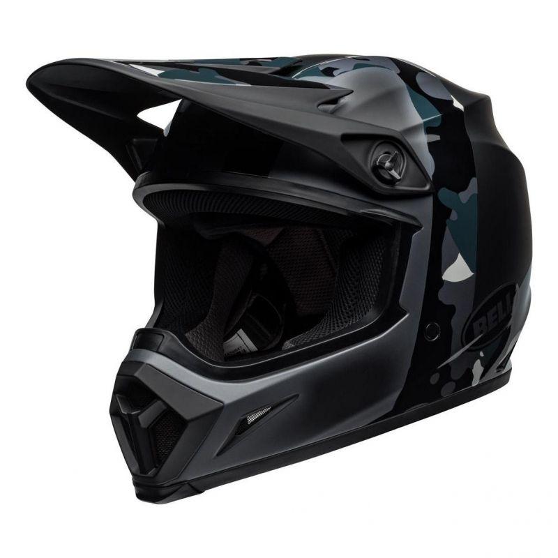 Casque cross Bell MX 9 Mips Presence Camo titanium/noir