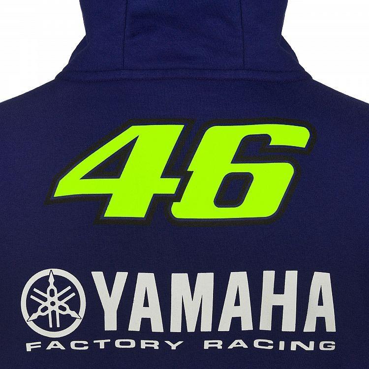 Sweat zippé à capuche VR46 Valentino Rossi Yamaha Dual Racing 2019 - 2