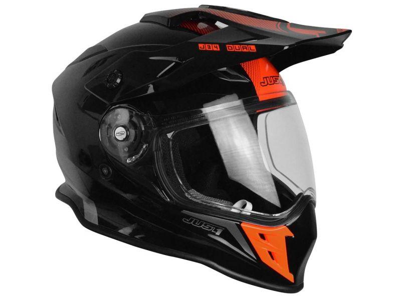 Casque Intégral Just1 J34 Adventure Shape Noirrouge Casques Moto