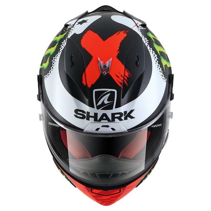 Casque intégral Shark RACE-R LORENZO MONSTER MAT noir/rouge/blanc - 2