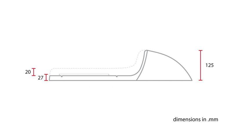 Selle café racer C. Racer SCR1 cuir synthétique fauve coque noire - 1