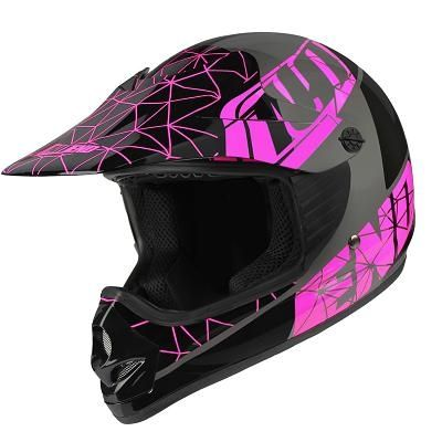 Casque cross enfant Noend Origami glossy pink