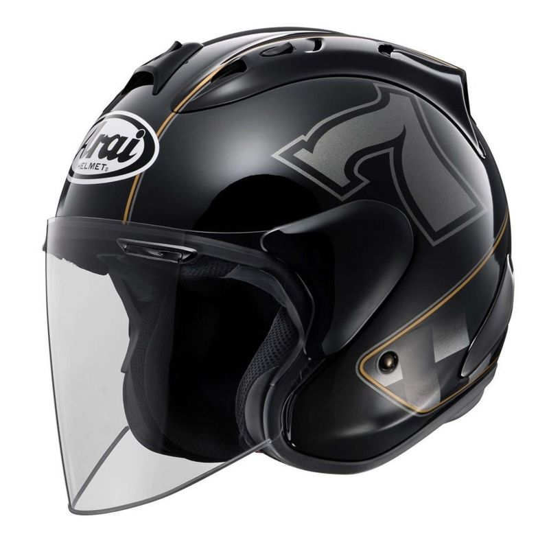 casque jet arai sz ram x caf racer black casques moto sur la b canerie. Black Bedroom Furniture Sets. Home Design Ideas