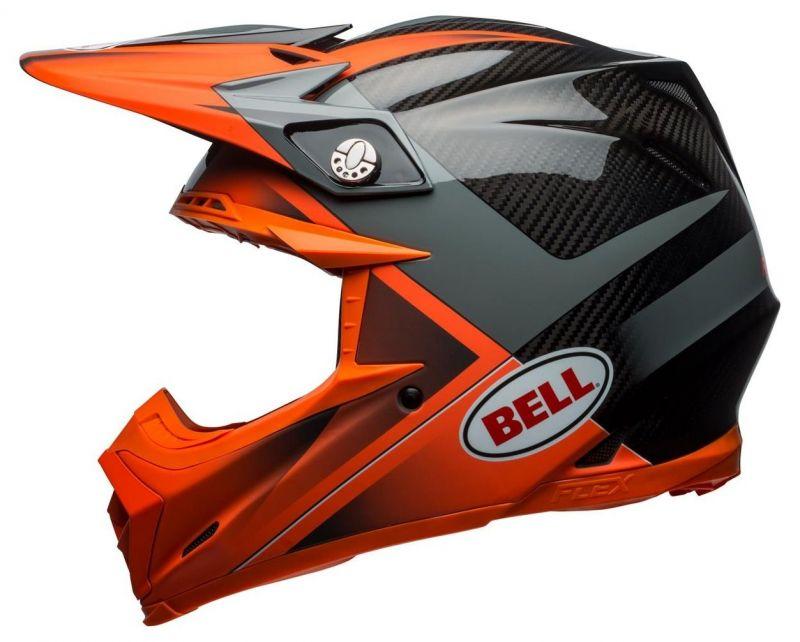 Casque cross Bell Moto 9 Flex Hound Gloss orange mat/charcoal - 8